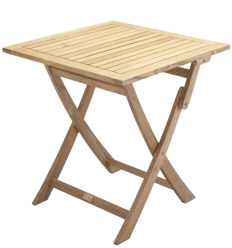 Klaptafel teak fsc kleur naturel materiaal hardhout afmeting lxb 70x70 cm merk p r - Klaptafel ...
