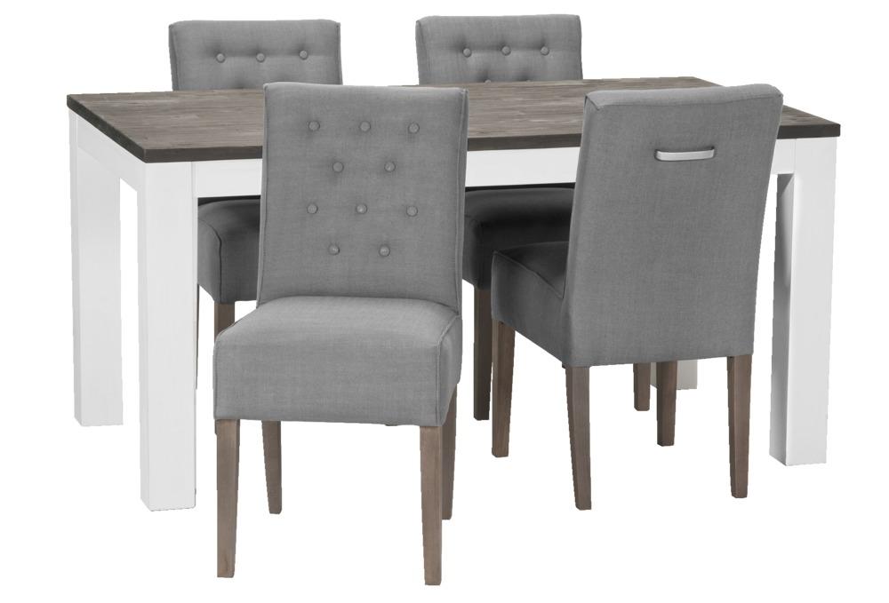 Eetkamerset kwantum finest eetkamerset met ronde tafel en stoelen