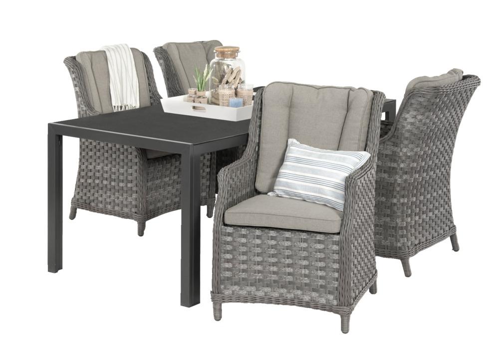 Tuinset aberdeen de luxe riviera 5 delig exclusief getoonde accessoires deze set bestaat uit - De meest comfortabele fauteuils ...
